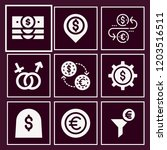 set of 9 money filled icons... | Shutterstock .eps vector #1203516511