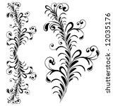 floral ornament elements... | Shutterstock .eps vector #12035176