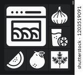 set of 6 freshness filled icons ... | Shutterstock .eps vector #1203519091