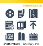 simple set of  9 filled icons... | Shutterstock .eps vector #1203520141