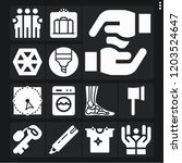 set of 13 hand filled icons... | Shutterstock .eps vector #1203524647