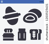 set of 5 food filled icons such ... | Shutterstock .eps vector #1203525631