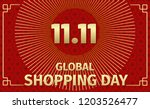 global shopping day sale... | Shutterstock .eps vector #1203526477
