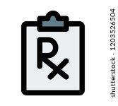 rx doctor prescription | Shutterstock .eps vector #1203526504