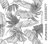 seamless pattern. tropical... | Shutterstock .eps vector #1203533077
