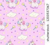 seamless pattern with a cartoon ...   Shutterstock .eps vector #1203537367