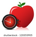 apple and watch illustration... | Shutterstock . vector #120353905
