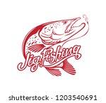 image pike fishing | Shutterstock .eps vector #1203540691
