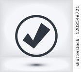 confirm icon  stock vector...   Shutterstock .eps vector #1203546721