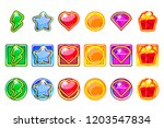 vector colored game app icons... | Shutterstock .eps vector #1203547834