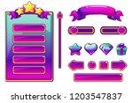 cartoon purple assets and... | Shutterstock .eps vector #1203547837