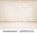 realistic empty room interior... | Shutterstock .eps vector #1203551131