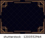 art deco frame. vintage linear... | Shutterstock .eps vector #1203552964