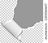 vector torn upper right corner... | Shutterstock .eps vector #1203560647