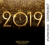 happy new year or christmas... | Shutterstock .eps vector #1203561817