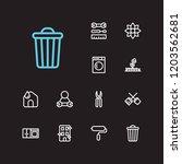 housekeeping icons set. clean...