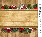 vintage christmas greeting...   Shutterstock . vector #120356719