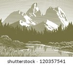 woodcut style illustration of a ... | Shutterstock .eps vector #120357541