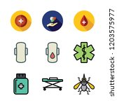 illness icon set. vector set... | Shutterstock .eps vector #1203575977