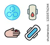 exercise icon set. vector set... | Shutterstock .eps vector #1203576244