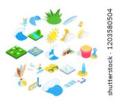 water procedure icons set....   Shutterstock .eps vector #1203580504