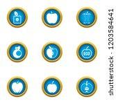 ripe fruit icons set. flat set... | Shutterstock .eps vector #1203584641