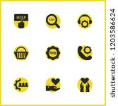 help icons set with shopping... | Shutterstock .eps vector #1203586624