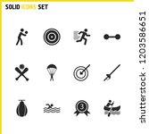 sports icons set with...