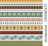set of seamless greek... | Shutterstock .eps vector #1203587677