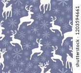 vector purple reindeer... | Shutterstock .eps vector #1203594661
