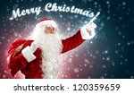 christmas theme with santa... | Shutterstock . vector #120359659