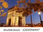 the triumphal arch is one of... | Shutterstock . vector #1203596947