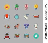 race icon set. vector set about ... | Shutterstock .eps vector #1203598297