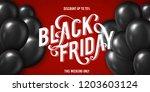 banner for black friday sale... | Shutterstock .eps vector #1203603124