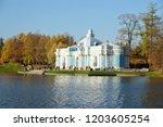 pushkin  russia   october 14 ... | Shutterstock . vector #1203605254