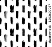 seamless pattern with black... | Shutterstock .eps vector #1203607087