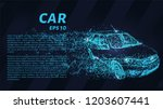 car from the particles. the car ... | Shutterstock .eps vector #1203607441