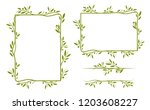 olive tree border. vector... | Shutterstock .eps vector #1203608227