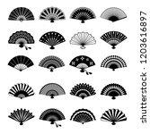 Oriental Fans Silhouettes....