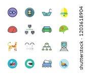 speed icon set. vector set... | Shutterstock .eps vector #1203618904