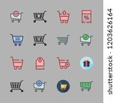 discount icon set. vector set... | Shutterstock .eps vector #1203626164