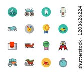 race icon set. vector set about ... | Shutterstock .eps vector #1203626224