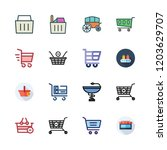 cart icon set. vector set about ... | Shutterstock .eps vector #1203629707