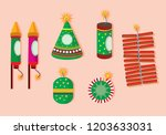 illustration of diwali with... | Shutterstock .eps vector #1203633031