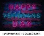 usa veterans day background...   Shutterstock .eps vector #1203635254