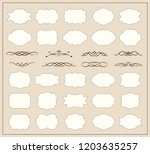 set of decorative vintage... | Shutterstock .eps vector #1203635257