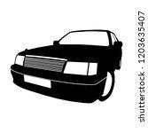 car modern black silhouette... | Shutterstock .eps vector #1203635407