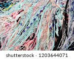textile waste a major polluter... | Shutterstock . vector #1203644071