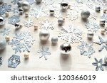 paper cutout of snowflakes... | Shutterstock . vector #120366019