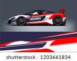 sport car racing wrap design.... | Shutterstock .eps vector #1203661834